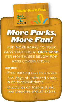 Two Parks, One Great Price - TWO PARK ANNUAL PASS