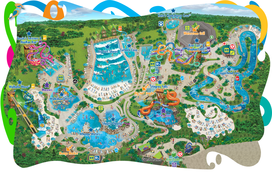 Aquatica 174 Seaworld S Waterpark Map Aquatica 174 San Antonio