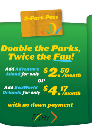 Add on Adventure Island or SeaWorld Orlando to your Annual Pass