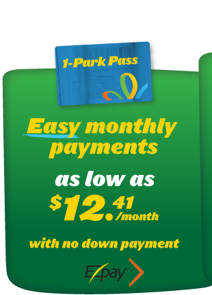 Easy Monthly Payments with EZpay for One Year Annual Passes