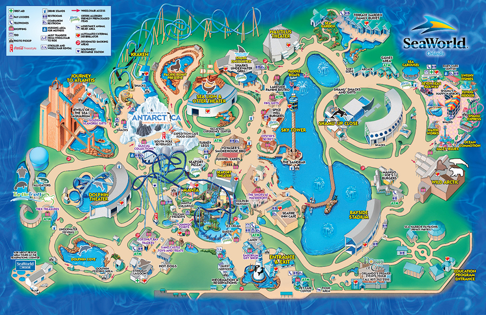 SeaWorld Park Map | SeaWorld Orlando
